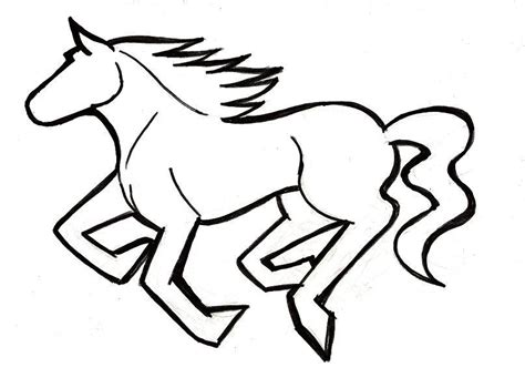 mustang horse drawing how to draw a mustang horse clipart best