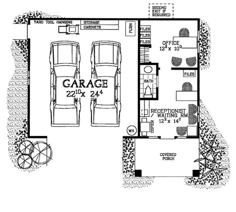 garage office plans home office floor plans with two stories big covered