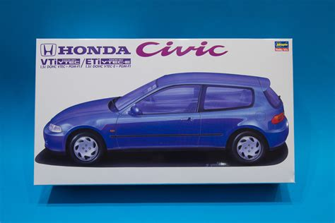 honda model car kits hasegawa 1 24 honda civic vti eti model kit unboxing and