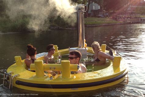 floating hot tub rent a floating hot tub down by the river captivatist