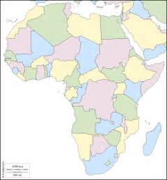 Africa Political Map Blank by Color Blank Map Africa Political