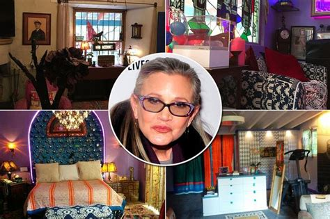 carrie fisher s home inside carrie fisher s extravagant and beverly