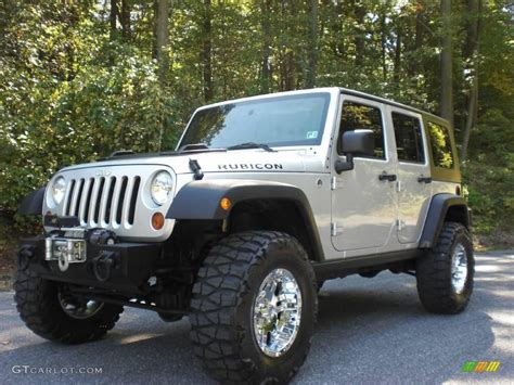 silver jeep rubicon 2008 bright silver metallic jeep wrangler unlimited