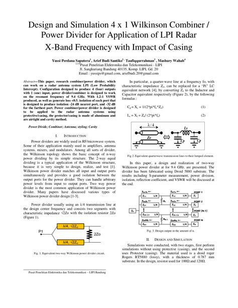 design application publication design and simulation 4x1 wilkinson power pdf download