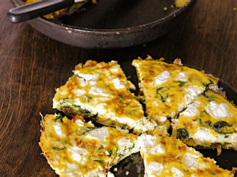 cottage cheese frittata spinach bacon and goat cheese frittata recipes