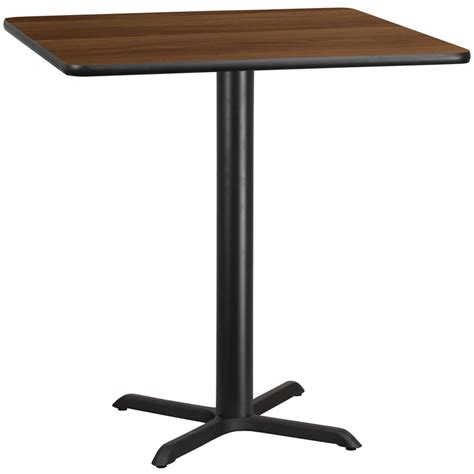 42 square table top 42 square walnut laminate table top with 33 x 33 bar