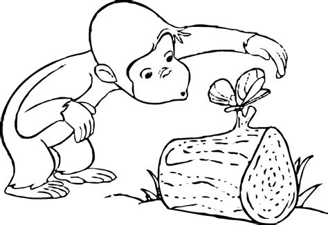 cartoons coloring pages curious george coloring pages