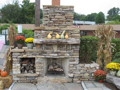 backyard stone fireplace outdoor stone fireplace warming up exterior space traba