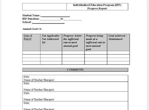 best photos of elementary student progress report template