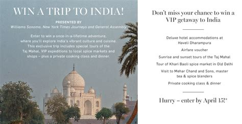Sweepstakes India - this week s featured sweepstakes win a 5 day trip to india for 2 insideflyer