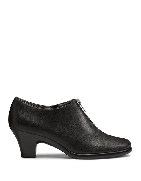 aerosoles email zip up ankle boots in black lyst