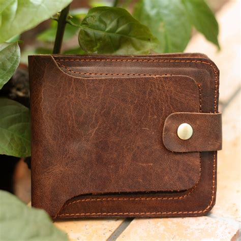 Mens Handmade Leather Wallet - handmade genuine leather s wallet leather wallet