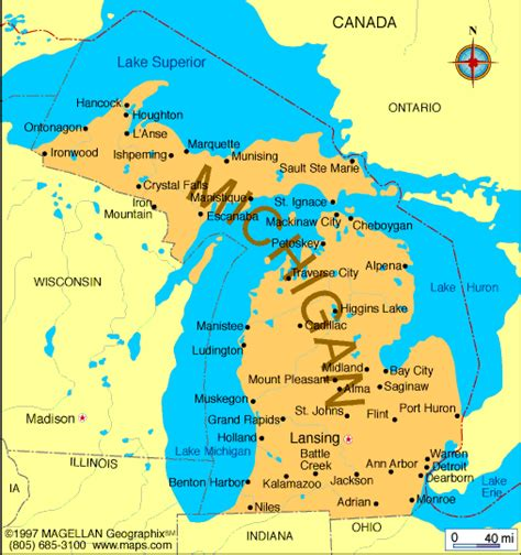 mi map atlas michigan