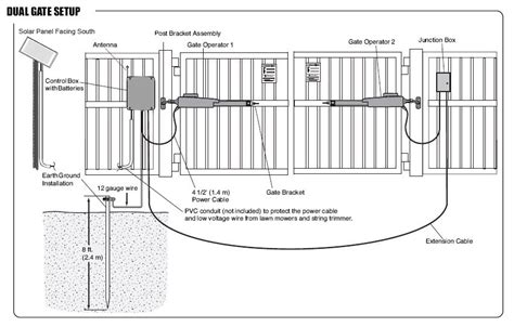 swing gate installation liftmaster la412pkgu solar power operator kit