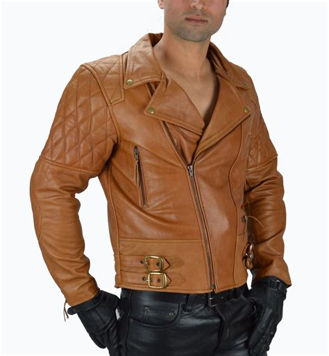 Leder Cognac by Motorrad Lederjacke Cognac Motorrad Leder Jacke Brando
