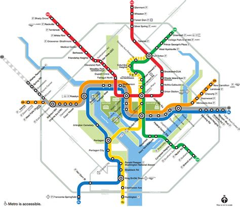 washington dc map subway washington dc subway system map my