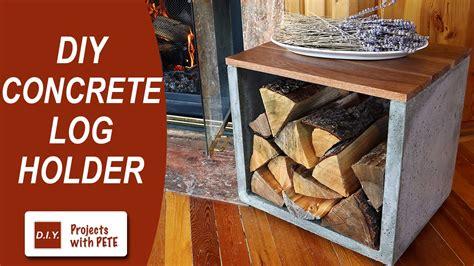 diy pete firewood rack diy concrete log holder firewood holder