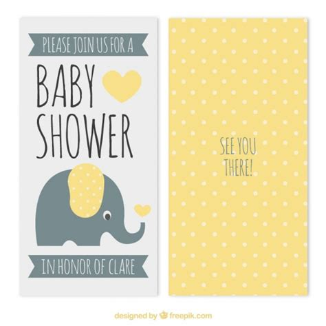 baby shower cards yellow dots baby shower card vector free