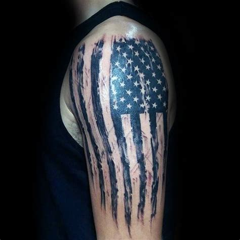 american flag tattoo on arm american flag black www pixshark images