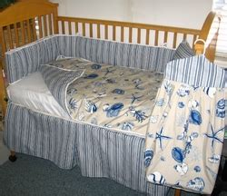 Seashell Crib Bedding Seashell Baby Bedding Blue Sea