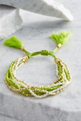 Tasseled Beaded Bracelet shop versona womens apparel and accessories