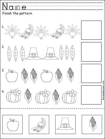 thanksgiving pattern worksheets kindergarten this is a free thanksgiving pattern worksheet for