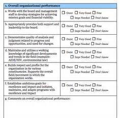 Fitness Appraisal Template by Executive Director Evaluation Survey Form Blue Avocado
