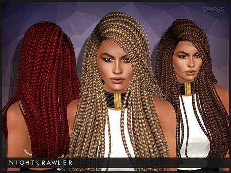 sims 3 hair braid tsr the sims resource over nightcrawler sims nightcrawler sparks