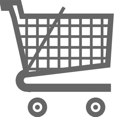 Keranjang Belanja grey shopping cart clip at clker vector clip royalty free domain