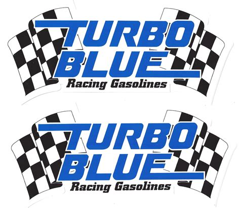 Rennsport Aufkleber by Turbo Blue Racing Decals Stickers 9 Inches Paired