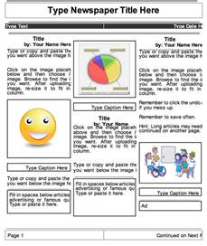 How To Create A Template In Docs by 2 Beautiful Templates To Create Classroom Newspapers Using