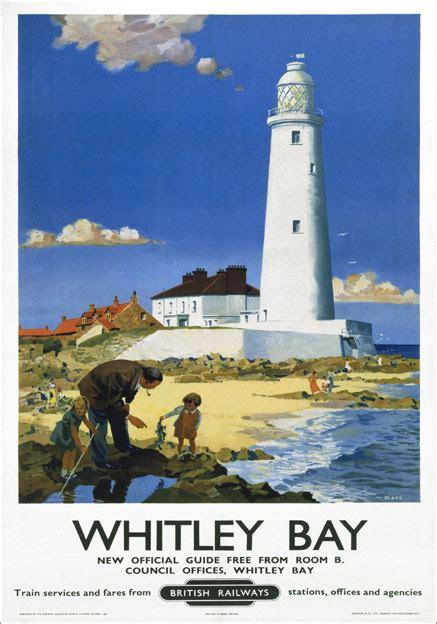 whitley bay tyne wear st marys lighthouse br vintage