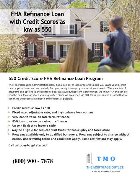 website 550 credit score fha refinance the mortgage outlet