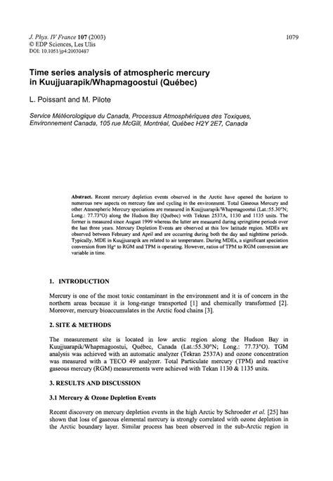 research paper on time series analysis time series analysis of atmospheric pdf