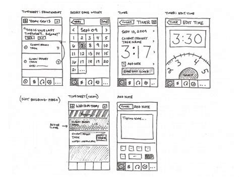 sketch app a selection of mobile ui wireframe sketches design