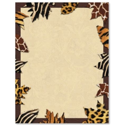 printable jungle paper jungle print border paper pictures to pin on pinterest
