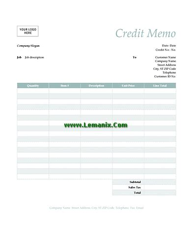 credit memo template word related office templates for ms