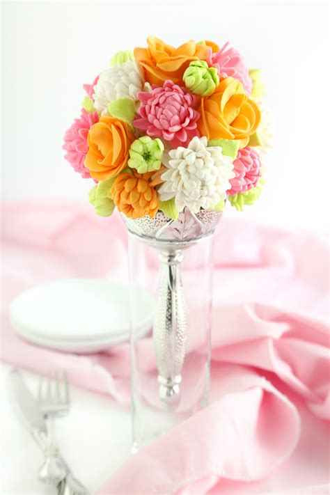 Wedding Day Bouquet by Bridal Bouquet Cake Sprinkle Bakes