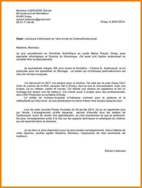 Lettre De Motivation Apb A La 8 Lettre De Motivation Apb Lettre Officielle