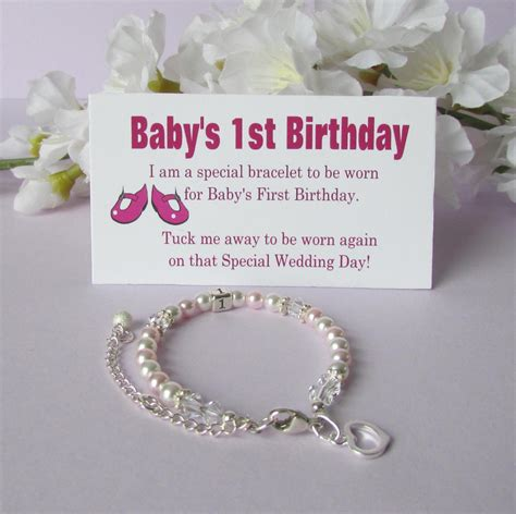 baby s 1st birthday gift bracelet baby to 174 growing