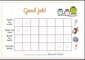free printable toddler reward chart template sle