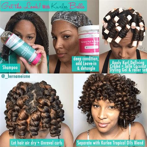 curling rods for short natural hair kurlee belle get the look chunky perm rod set with