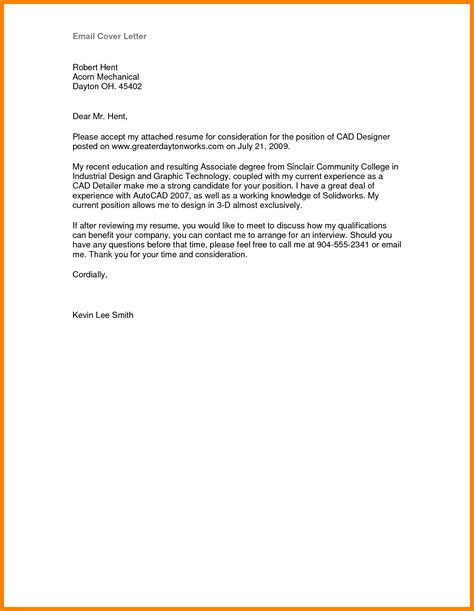 email cover letter and resume 10 sle e mail cover letter lease template