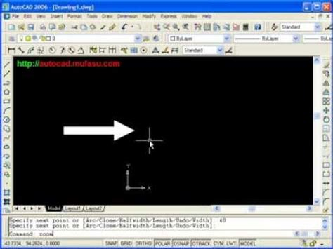 Autocad Tutorial Arrow With Polyline   autocad tutorial arrow with polyline youtube