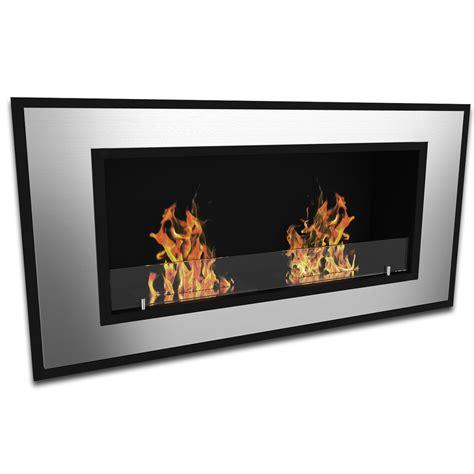 elite tulsa ventless bio ethanol wall mounted fireplace