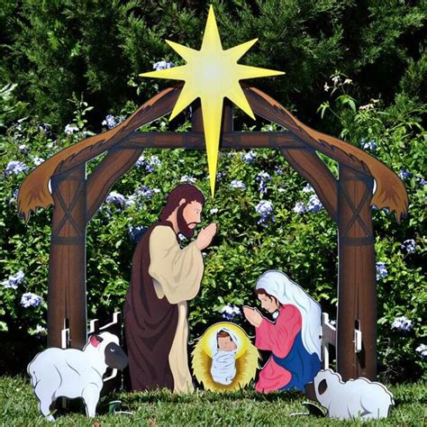 Nativity Outdoor Decorations by Best 25 Outdoor Nativity Sets Ideas On