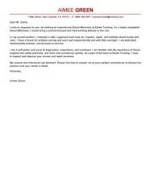 Leading Professional Diesel Mechanic Cover Letter Examples