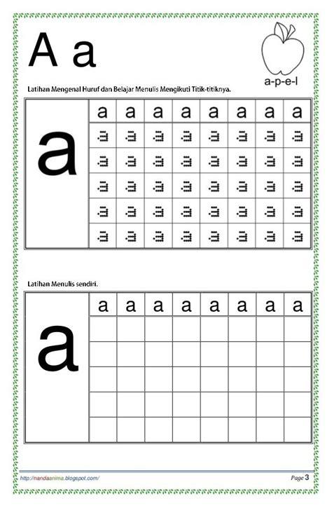 Belajar Menulis Dengan Metode Gsuka Usia 4 7 Tahun belajar mengenal dan menulis huruf abc huruf titik dan