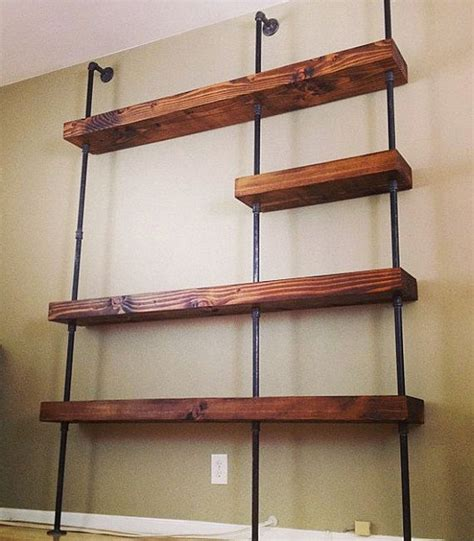 industrial pipe shelf by saltandgrain on etsy 1200 00