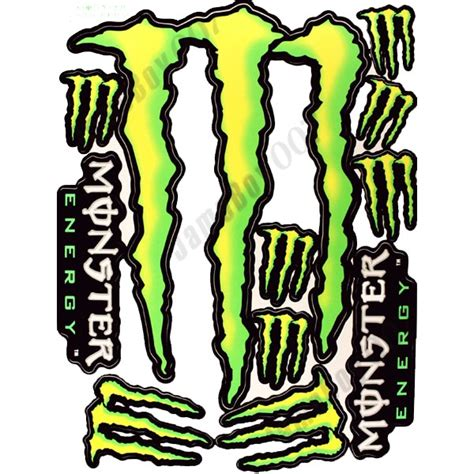 Green Monster Aufkleber by Mrs009b Large Size Yellow Green M0nster Energy Decals